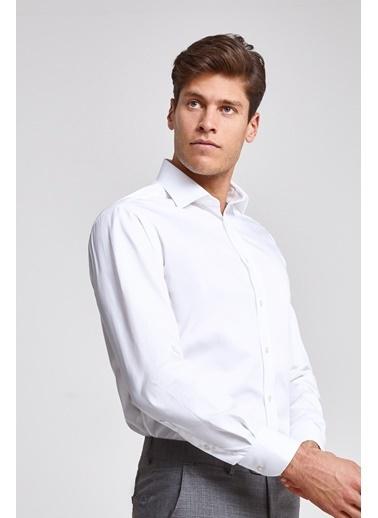 D'S Damat Regular Fit Düz Nano Care Gömlek Beyaz